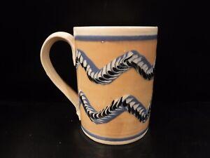 18 Century Reproduction Mochaware Mug-SJ Pottery