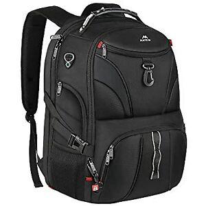"Matein Men's Black 45L Anti-Theft Travel Laptop Backpack 17"" TSA-Friendly Bag"