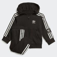 Adidas 3 Stripes Black Kids Toddler Tracksuit 2-3 YEARS Hoodie Set SST Boys