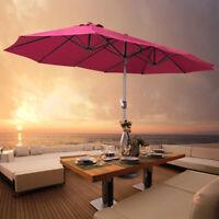 15 Ft Large Patio Umbrella Parasol Beach Garden Market Sun Shade Outdoor Canopy