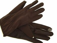 ISOTONER Men's Gloves, Smart Touch Touchscreen Compatible Brown Size L