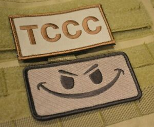 US ARMY BATTLEFIELD MEDIC TACTICAL COMBAT CASUALTY CARE velkrö 2-PATCH SET: TCCC