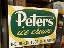 Peters Ice Cream Health Food Repro Alucabond Sign