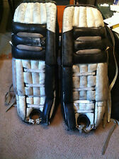 Hockey Goalie Pad MBA Black & White Canada Old Vintage Nice Man's Cave Deco