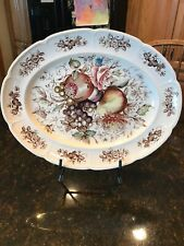 "Johnson Bros Windsor Ware Windsor Fruit Oval 12"" Serving Plate Platter"