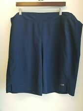 Champion Navy Blue Flat Front Stretch Waist Work Out Gym Sport Shorts XXL 2XL