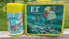 Vintage 1982 Complete E.T. Lunchbox and Thermos ~ Alladin Brand