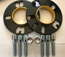 2 X 10mm BIMECC BLACK HUB SPACERS + 8 X M12X1.5 TUNER BOLTS VOLKSWAGEN 4X100 57.
