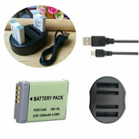 NB-13L Battery /Charger for Canon PowerShot SX730 HS G1 X Mark III, G7 X Mark II