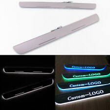 Customized LED Moving Courtesy Light Door Sill Scuff Plate For Ford Expedition