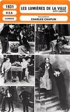 FICHE CINEMA : LES LUMIERES DE LA VILLE - Cherrill,Lee,Chaplin 1931 City Lights