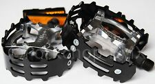 "Old school BMX XC-II Wellgo bear trap pedals 1/2"" (FOR ONE PIECE CRANKS) BLACK"
