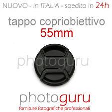 Tappo obiettivo a molla 55mm coperchio universale Canon Nikon Sony Sigma 55 mm