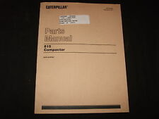 CAT CATERPILLAR 815 COMPACTOR PARTS BOOK MANUAL S/N 91P1-91P527