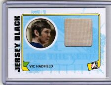 VIC HADFIELD 09/10 ITG 1972 New York Rangers Game-Used Jersey M-31 1/box