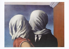 RENE MAGRITTE - Les Amants (Lovers), 1928 (Kissing) Art Print Poster 20x27.5