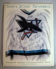 San Jose Sharks 1991-1992 Inaugural Season Yearbook