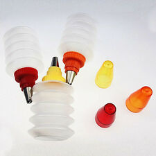 3 Pcs Decorating Squeeze Icing Bottles Baked Tool Cake Prosting Stainless Nozzel