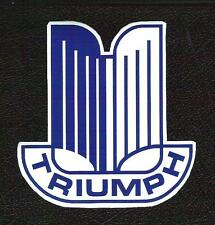 Triumph Open Book Crest Badge Sticker, TR-2, Vintage Sports Car Racing Decal