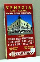 VENEZIA LIDO - MURANO [pianta guida illustrata, nuova edizione, casa ed.tabacco]