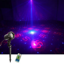 IP44 RGB 32 Gobo Remote Outdoor Landscape Laser Light Garden Yard Tree Projector