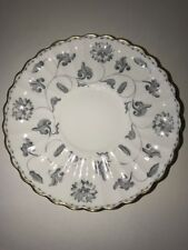 Spode Colonel Gray Y7144 Gold Trim Soup Bowl Liner Saucer Set Of Two