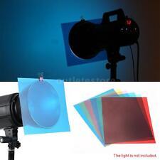 6pcs Transparent Lighting Color Correction Gel Sheets Filters for Flash OT D2J2