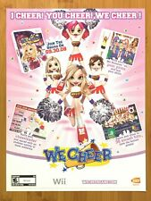 We Cheer Nintendo Wii 2008 Print Ad/Poster Official Cheerleading Promo Pop Art!