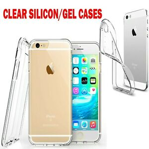 iPhone 7 / 8 Clear Case Cover Gel and Tempered Glass Screen Protector For Apple