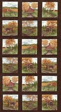 COUNTRY ROAD Fabric Blocks PANEL // Moda Fabric Squares by Holly Taylor / Earth