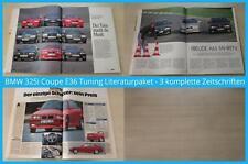 BMW 325i Coupe E36 Tuning Literaturpaket - 3 komplette Zeitschriften