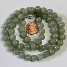 "Genuine Natural (Grade A) Jadeite Untreated Light Green JADE Necklace 21"" #N197"