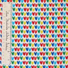 Valentine's Day Fabric - Rainbow Hearts on White C2486 - Timeless Treasures YARD