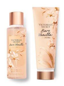 VICTORIA'S SECRET BARE VANILLA LA CREME FRAGRANCE BODY MIST & LOTION GIFT SET