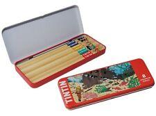 """Papeterie Tintin et Milou - Boîte métal de 8 crayons HB """"L'épave de la Licorne"""""""