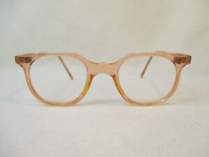 Vintage Original DDR Damen Brille 50er Jahre schmale Form rose ROW