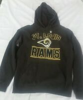 NFL Team Apparel Rams Charcoal Pullover Hoodie - Charcoal - Multiple Sizes NWOT
