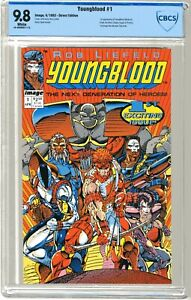 Youngblood  #1 CBCS   9.8   NMMT   White pgs  4/92  1st App. Youngblood (Badro