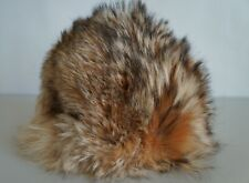 VINTAGE REAL RACOON DOG FUR HAT  SIZE 56CM SMALL BY VALMISLAKKI OY, FINLAND