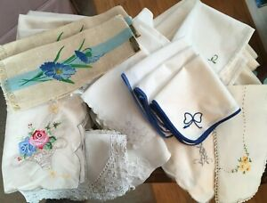 Lot of vintage dinner & cocktail napkins from an estate auction.