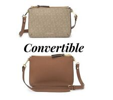 Calvin Klein Convertible Crossbody Bag Natural/Luggage Brown