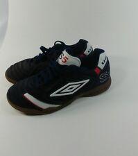 UMBRO Futsal  5 Sneakers Indoor Football Soccer Men US 6.5 Navy Blue Red White