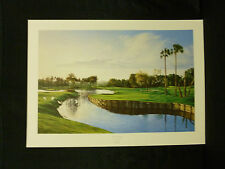Adriano Manocchia Signed TPC At Sawgrass PGA Golf Limited Edition Lithograph