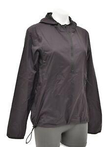Specialized Women Trail Wind Jacket MEDIUM Black Hood 1/2 Zip Packable MTB Bike