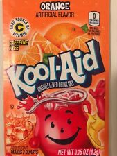 10 ORANGE flavor Kool Aid Drink Mix dye Vitamin C popsicle fun citrus party fun