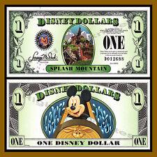 "Disney $1 Dollar, 2014 ""D"" Series 5 Digit Serial Splash Mountain Uncirculated"