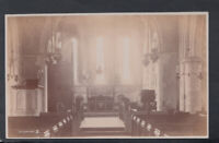 Sussex Postcard - Interior of Clymping Church    T3721