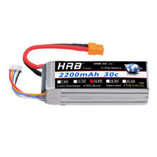 HRB 14.8V 2200mAh 4S LiPo Battery 30C-60C XT60 Plug for RC Helicopter Car Model