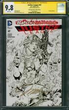 Justice League 47 Black White Ed Variant CGC SS 9.8 Jim Lee Harley Quinn 19 Film