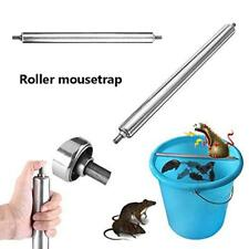 Stainless Steel Mice Mouse Rats Trap Log Roll Bucket Rolling Stick Rodent Spin D